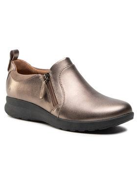 Clarks Clarks Pantofi Un Adron Zip 261443204 Auriu