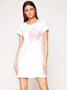 LOVE MOSCHINO LOVE MOSCHINO Kleid für den Alltag W592909M 3876 Weiß Regular Fit