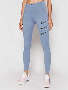 Nike Nike Legíny Epic Luxe Run Division DA1270 Modrá Tight Fit