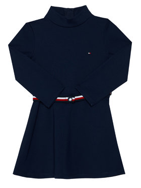 TOMMY HILFIGER TOMMY HILFIGER Sukienka codzienna Essential Skater KG0KG05437 M Granatowy Regular Fit