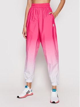 adidas adidas Teplákové kalhoty adicolor 3D Trefoil GN2851 Růžová Loose Fit