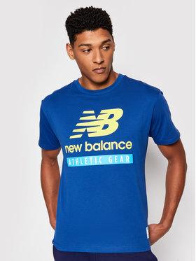 New Balance New Balance Marškinėliai NBMT11517CNB Mėlyna Athletic Fit