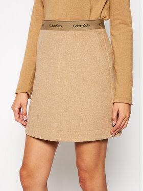 Calvin Klein Calvin Klein Trapéz szoknya Double Face K20K202450 Bézs Regular Fit