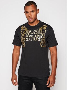 Versace Jeans Couture Versace Jeans Couture Тишърт B3GZB7TI Черен Regular Fit
