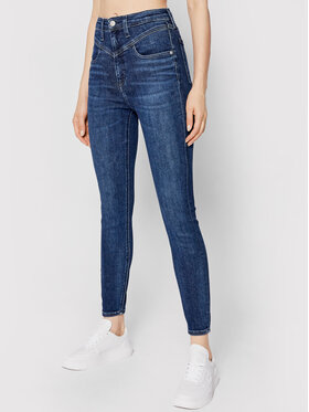 Calvin Klein Jeans Calvin Klein Jeans Jeansy Ankle J20J216499 Granatowy Super Skinny Fit