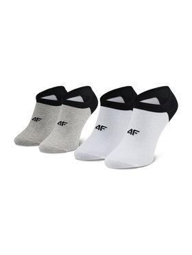 4F 4F Комплект 2 чифта къси чорапи мъжки H4L21 SOM001 Бял