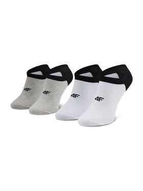 4F 4F Lot de 2 paires de chaussettes basses homme H4L21 SOM001 Blanc