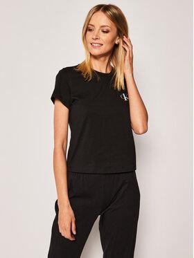 Calvin Klein Underwear Calvin Klein Underwear Pyžamový top 000QS6356E Černá Regular Fit