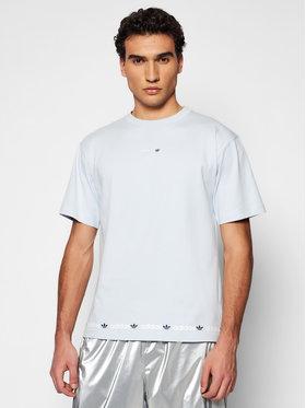 adidas adidas T-Shirt Linear Logo Repeat GN7127 Blau Standard Fit
