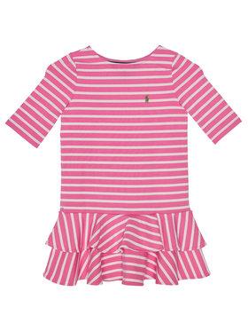 Polo Ralph Lauren Každodenné šaty Stripe Knit 311784200 Ružová Regular Fit