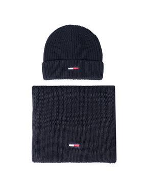Tommy Jeans Tommy Jeans Комплект шал и шапка Tjm Basic Rib Scarf & Beanie Gp AM0AM06686 Черен