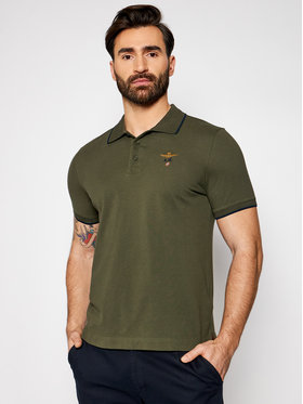 Aeronautica Militare Aeronautica Militare Polo marškinėliai 211PO1308P82 Žalia Regular Fit