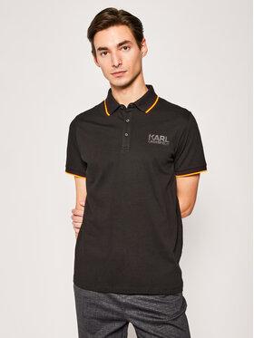 KARL LAGERFELD KARL LAGERFELD Тениска с яка и копчета 755085 501223 Черен Regular Fit