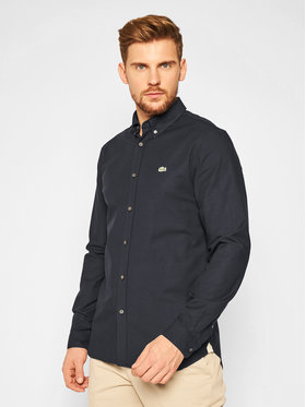 Lacoste Lacoste Marškiniai CH2671 Tamsiai mėlyna Slim Fit