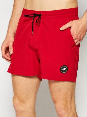 4F 4F Plážové šortky SKMT001 Červená Regular Fit