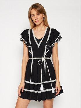 TwinSet TwinSet Letné šaty 211TT2602 Čierna Regular Fit