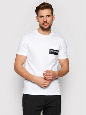 Calvin Klein Calvin Klein Тишърт Bold Stripe Pocket K10K106531 Бял Regular Fit