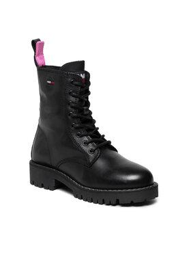 Tommy Jeans Tommy Jeans Trapery Leather Lace Up Boot EN0EN01543 Czarny