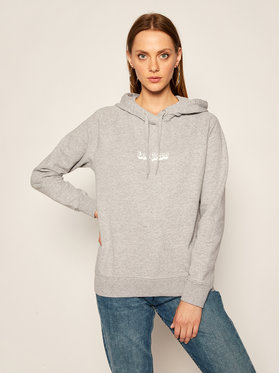 Lee Lee Bluza Hoodie L53WTXMP Szary Regular Fit
