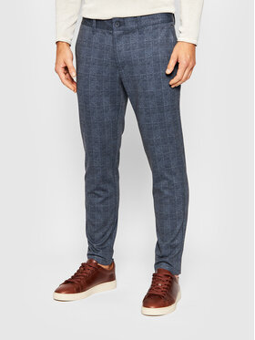 Only & Sons Only & Sons Текстилни панталони Mark 22019887 Тъмносин Tapered Fit