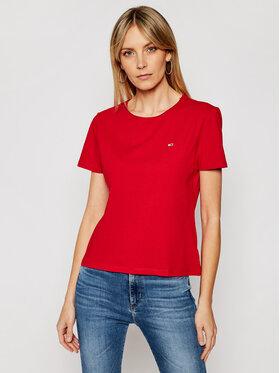 Tommy Jeans Tommy Jeans Marškinėliai DW0DW09194 Raudona Slim Fit