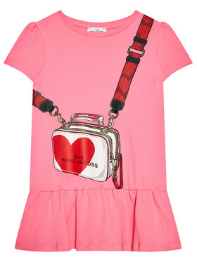 Little Marc Jacobs Little Marc Jacobs Každodenné šaty W12362 M Ružová Regular Fit