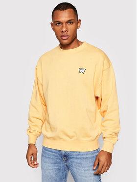 Wrangler Wrangler Sweatshirt Badge Crew W6E5HAA11 Gelb Regular Fit