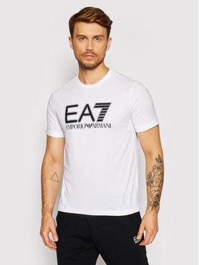 EA7 Emporio Armani EA7 Emporio Armani T-Shirt 6KPT81 PJM9Z 1100 Biały Regular Fit