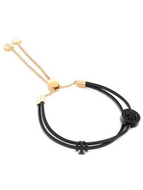 Tory Burch Tory Burch Bransoletka Kira Powder Coated Slider Bracelet 83505 Czarny