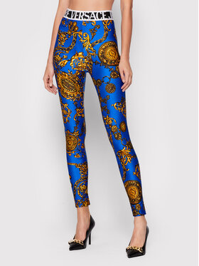 Versace Jeans Couture Versace Jeans Couture Leggings Shiny Lycra Sumatra 71HAC101 Plava Slim Fit