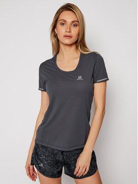 Salomon Salomon T-Shirt Agile LC1159200 Szary Active Fit