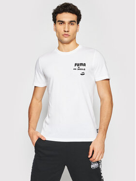 Puma Puma T-Shirt MR DOODLE 598641 Bílá Regular Fit