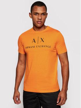 Armani Exchange Armani Exchange Tričko 8NZTCJ Z8H4Z 1447 Oranžová Slim Fit