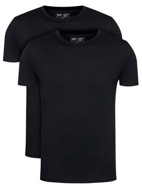 Lee Lee Σετ 2 T-Shirts Twin Pack Crew L680CM01 Μαύρο Fitted Fit