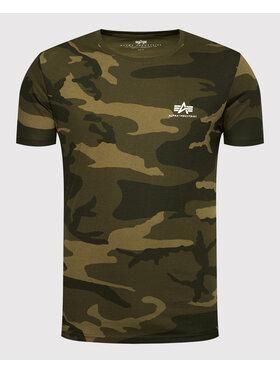 Alpha Industries Alpha Industries T-Shirt Basic T Small Logo Camo 188505C Grün Regular Fit