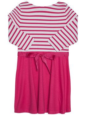 Polo Ralph Lauren Polo Ralph Lauren Každodenní šaty Stripe Solid 311720091001 Růžová Regular Fit