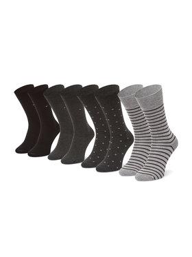 Tommy Hilfiger Tommy Hilfiger Sada 4 párů pánských vysokých ponožek 100002214 Černá