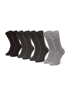 Tommy Hilfiger Tommy Hilfiger Súprava 4 párov vysokých pánskych ponožiek 100002214 Čierna