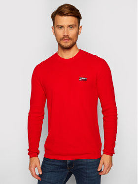 Tommy Jeans Tommy Jeans Pullover Corp Logo DM0DM09468 Rot Regular Fit