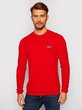 Tommy Jeans Tommy Jeans Пуловер Corp Logo DM0DM09468 Червен Regular Fit