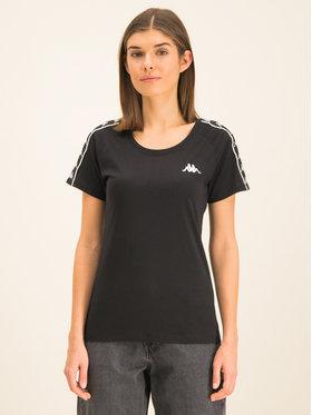 Kappa Kappa T-Shirt Fimra 306045 Schwarz Regular Fit