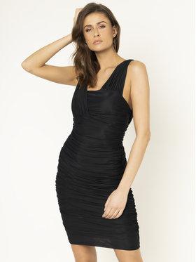 Pinko Koktejlové šaty Daltanius 20201 PBK2 1B14MF Y673 Čierna Slim Fit