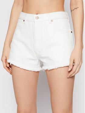 Wrangler Wrangler Pantaloncini di jeans Festival W26FHQ29X Bianco Regular Fit