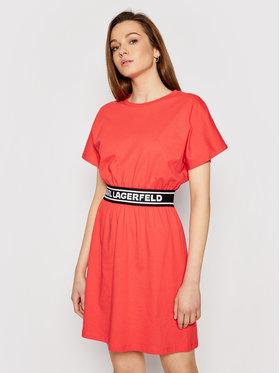 KARL LAGERFELD KARL LAGERFELD Robe de jour Logo Tape 211W1361 Rouge Regular Fit