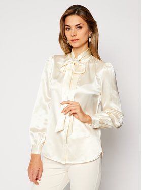 Tory Burch Tory Burch Koszula Satin Bow Blouse 81007 Beżowy Regular Fit