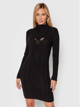 TWINSET TWINSET Souprava svetr a šaty 212AT3251 Černá Slim Fit