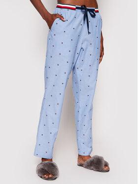 Tommy Hilfiger Tommy Hilfiger Pyžamové kalhoty Woven Embro UW0UW02840 Modrá