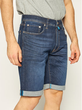 Pierre Cardin Pierre Cardin Džínsové šortky 3452/8882 Tmavomodrá Regular Fit