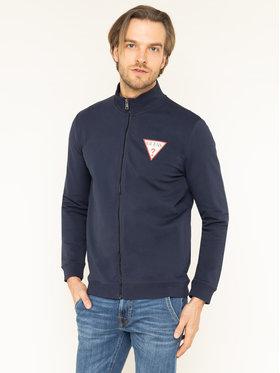 Guess Guess Bluză M01Q42 K6ZS0 Bleumarin Slim Fit