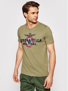Aeronautica Militare Aeronautica Militare Marškinėliai 211TS1843J511 Žalia Regular Fit